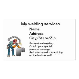 soldador tarjeta de visita