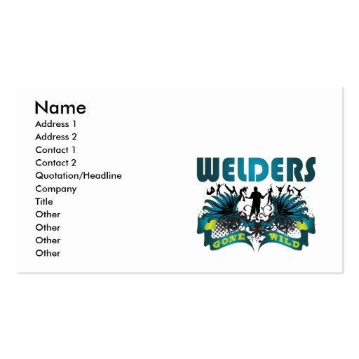 Soldadores idos salvajes tarjeta de visita