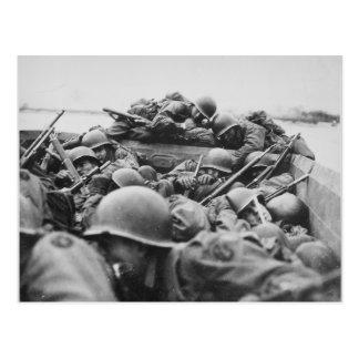 Soldados aliados de la Segunda Guerra Mundial que Postal