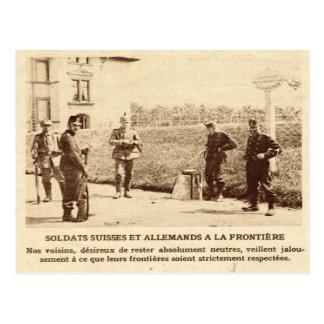 Soldados de la Primera Guerra Mundial, del suizo y Postal
