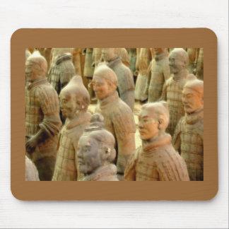 Soldados del primer emperador chino alfombrilla de ratón