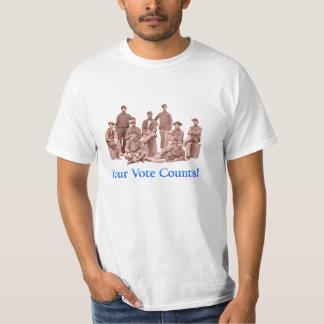 Soldados del yanqui - sus cuentas del voto - camiseta