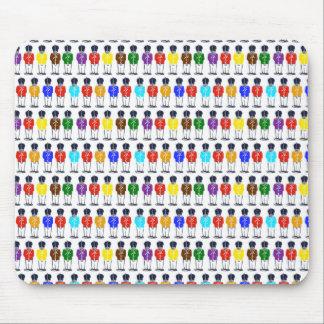 Soldados multicolores alfombrilla de ratón