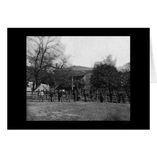 Soldados por el Palacio de Justicia de Appomattox Tarjeta