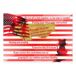 Soldados y sus familias tarjeta de negocio