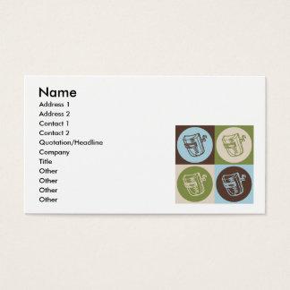 Soldadura del arte pop tarjeta de negocios