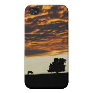 Soledad de la puesta del sol iPhone 4 cobertura