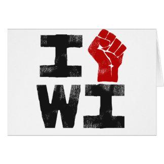 Solidaridad de Wisconsin Tarjeton