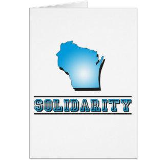Solidaridad de Wisconsin Tarjeta
