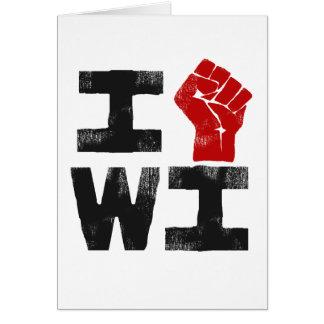 Solidaridad de Wisconsin Tarjeta De Felicitación
