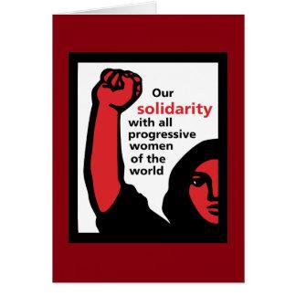 ¡Solidaridad femenina! Tarjeta De Felicitación