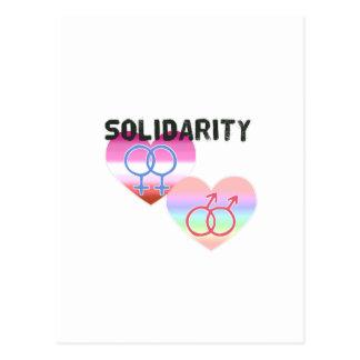 Solidaridad gay lesbiana postal