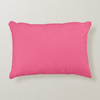 Sólido rosado de la tarjeta del día de San Cojín Decorativo