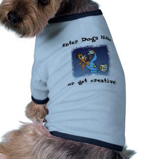 Sólido SQ BG de Navidad de la plantilla Camisa De Perrito