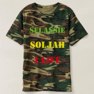 solJAH de Selassie camiseta de 4 militares de la