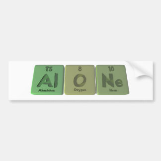 Solo-Al-o-Ne-aluminio-oxígeno-Neón Pegatina Para Coche