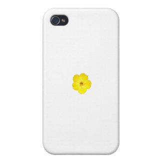 Solo amarillo cuatro en punto iPhone 4/4S carcasa