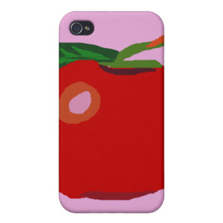 Solo Apple rosa claro iPhone 4 Protectores