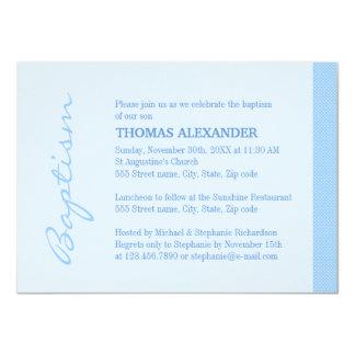 Solo bautismo de la raya azul invitación 11,4 x 15,8 cm