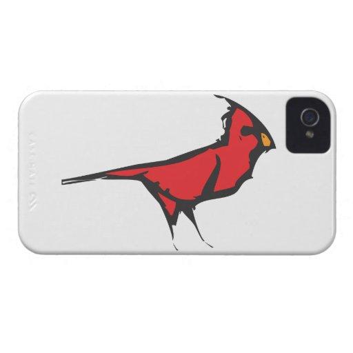 Solo cardinal iPhone 4 cárcasas