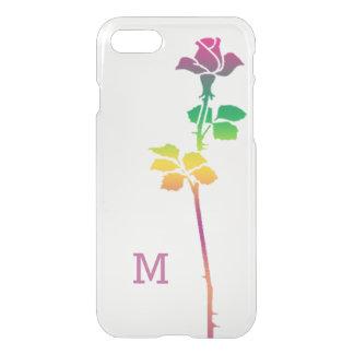 Solo con monograma de encargo color de rosa rosado funda para iPhone 7