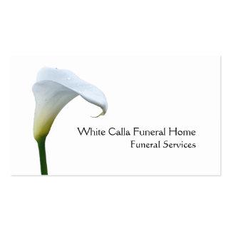 Solo director de funeraria blanco del lirio de tarjetas de visita