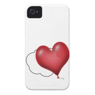 Solo globo del corazón que vuela a solas Case-Mate iPhone 4 cárcasas