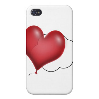 Solo globo que vuela a solas iPhone 4 cárcasas