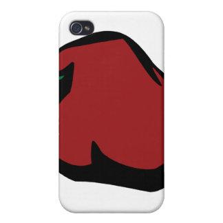 Solo gráfico rojo del habanero iPhone 4 cárcasas