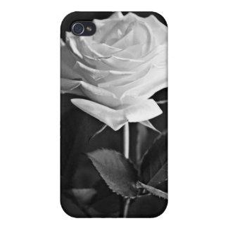 Solo i color de rosa negro y blanco elegante iPhone 4 carcasa