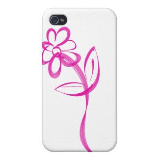 Solo logotipo de la margarita iPhone 4 carcasas