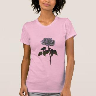 Solo rosa blanco: Arte del lápiz del color: Floral Camisas