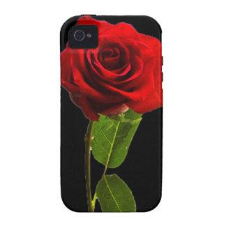 """Solo rosa rojo "" Case-Mate iPhone 4 Funda"