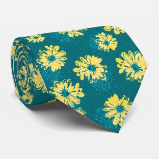 Solo-side floral del vintage del acuario impreso corbata