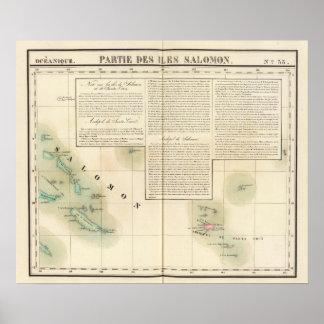 Solomon Island Oceanía ningunos 33 Póster