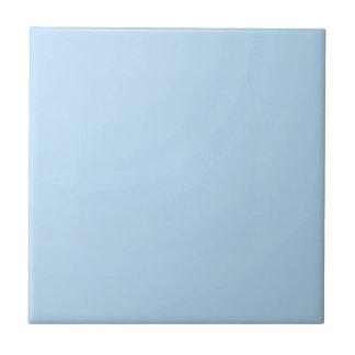 Sombra azul clara llana de SkyBlue: Añada el texto Azulejo Cuadrado Pequeño