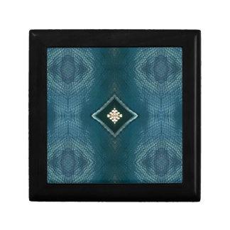Sombra de la caída del azul con la forma poner caja de regalo