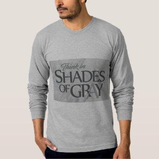 Sombra de la camiseta gris