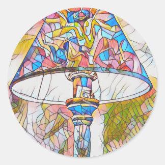 Sombra de lámpara artística fresca del vitral pegatina redonda