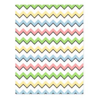 Sombra en colores pastel del Chevron-Descenso Postal