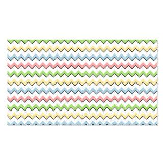 Sombra en colores pastel del Chevron-Descenso Plantillas De Tarjetas Personales