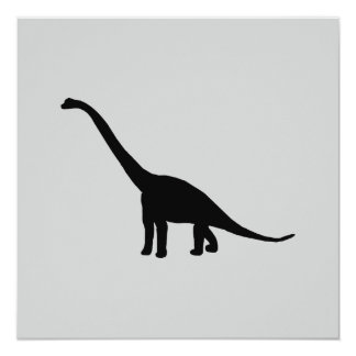 Sombra negra Dino del dinosaurio del Brontosaurus Invitaciones Personales