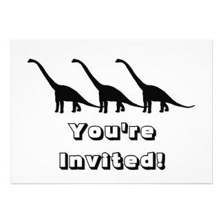 Sombra negra Dino del dinosaurio del Brontosaurus Comunicado Personal