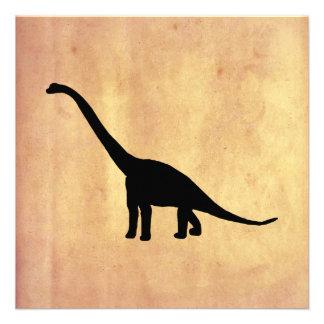 Sombra negra Dino del dinosaurio del Brontosaurus Anuncios