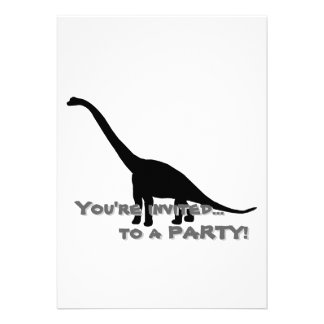 Sombra negra Dino del dinosaurio del Brontosaurus Comunicados Personalizados