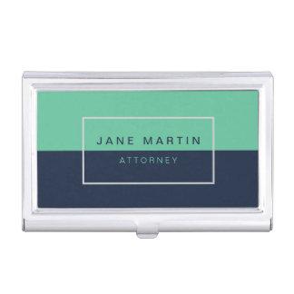 Sombra profesional moderna del azul y de la caja para tarjetas de visita