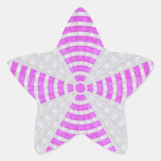 Sombra superficial artística del tono n del color pegatina en forma de estrella