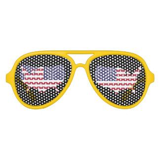 Sombras adultas del fiesta del aviador de América Gafas De Fiesta De Aviador