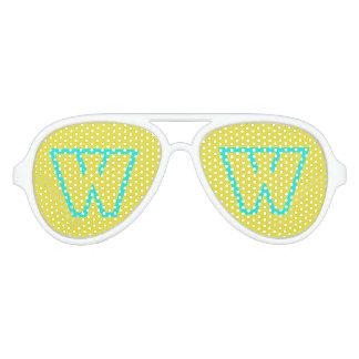 Sombras amarillas azules del fiesta del aviador de gafas de fiesta de aviador