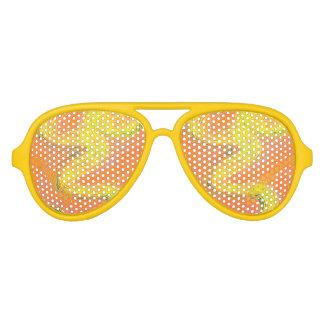 Sombras anaranjadas del fiesta de la llovizna gafas de fiesta de aviador